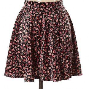 Hollister velvet skirt